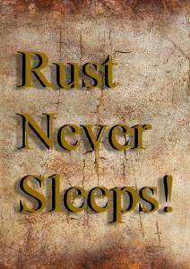 poster, rust never sleeps